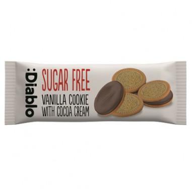 :Diablo Sugar Free Vanilla Sandwich Cookies with Cocoa Cream 44g