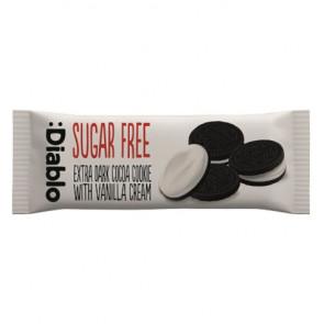 Galletas de Chocolate Rellenas de Crema de Vainilla sin Azúcar :Diablo 44g (Paquete de 4 galletas)