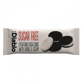 Biscoitos de Chocolate Recheados com Creme de Baunilha sem Açúcar :Diablo 44g (Pacote de 4 biscoitos)