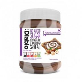 Pâte à tartiner au Chocolat avec Noisettes & Chocolat Blanc sans Sucre Ajouté :Diablo 350 g
