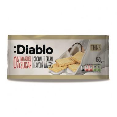 :Diablo 0% No Added Sugar Coconut Cream Flavour Thins Wafers 110 g