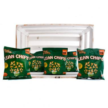 Pack de 36 Lean Chips (Nachos Proteinados) Crema Agria y Cebolla Purely Snacking