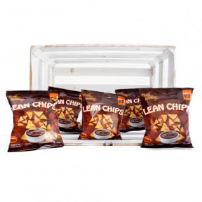Pack de 36 Lean Chips (Nachos de Proteina) Barbacoa Purely Snacking