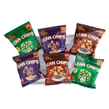 Pack Variado de Lean Chips (Nachos de Proteína) de 36 Pacotes