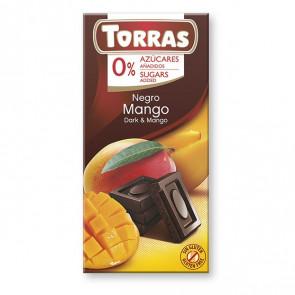 Chocolate Negro con Mango Sin Azúcar Torras 75 g
