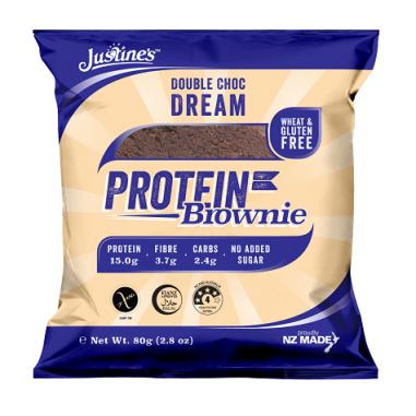 Brownie Proteico de Chocolate Negro Justine's 80 g