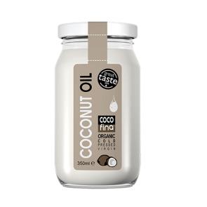 Óleo de Coco Virgem Orgânico Cocofina Recipiente de Vidro 350 ml