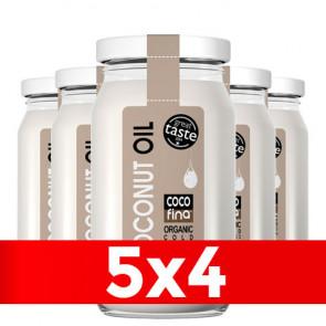 Pack 5 x 4 Aceite de Coco Virgen Ecológico Cocofina Envase Cristal 350 ml