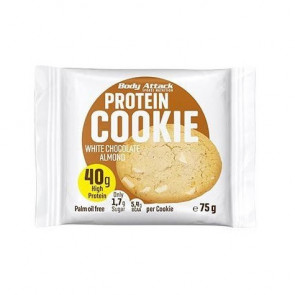 Galleta Proteica de Almendra y Chocolate Blanco Body Attack 75 g