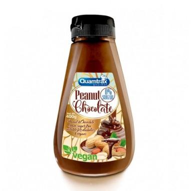 Creme de Amendoim e Chocolate 0% Açúcar Quamtrax 400 g