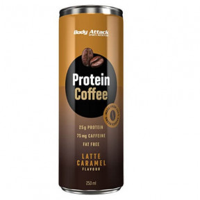 Boisson Protéinée au Café Protein Coffee goût Latte Caramel Body Attack 250 ml