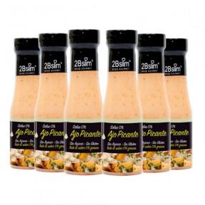 Pack de 6 Salsa al Ajo Picante 0% 2bSlim 250 ml