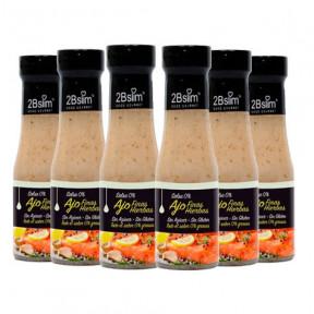 Pack de 6 Sauces à l'Ail et Fines Herbes 0% 2bSlim 250 ml