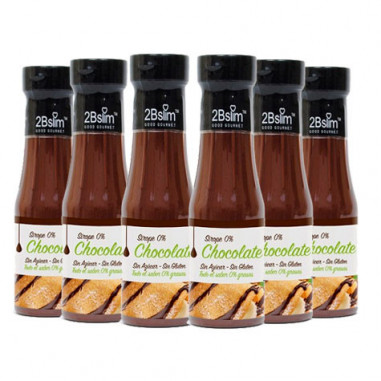 2bSlim 0% Chocolate Syrup 250 ml 6 Pack