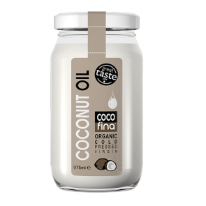 Aceite de Coco Virgen Ecológico Cocofina Envase Cristal 975 ml