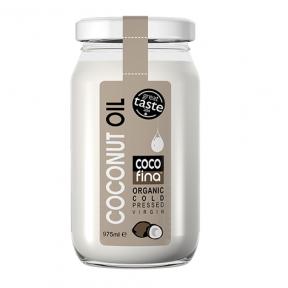 Óleo de Coco Virgem Orgânico Cocofina Recipiente de Vidro 975 ml