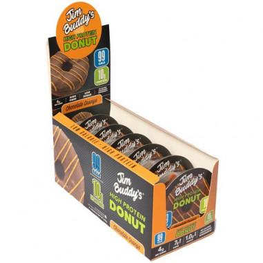 Pack de 6 Jim Buddy's Donut de Proteína Sabor Chocolate-Laranja