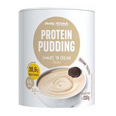 Preparado para hacer Natillas Proteicas de Cookies & Cream Body Attack 210g