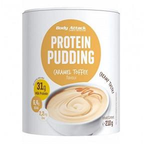 Preparado para hacer Natillas Proteicas de Caramelo Body Attack 210g