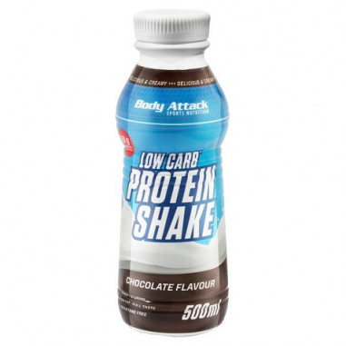 Body Attack Low-Carb Protein Shake Chocolate Flavour 500 ml