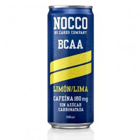 Bebida Low-Carb com BCAA e Cafeína sabor Limão/Lima Nocco 330 ml