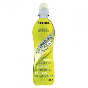 Bebida L-Carnitine Water 1000 mg Sabor Limón Weider 500 ml