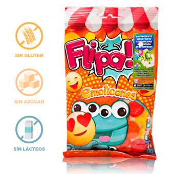 Gominolas sin Azúcar Emoticonos Flipa 80 g