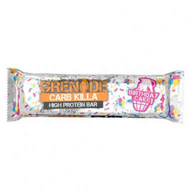 Barrita Proteica Carb Killa sabor Pastel de Cumpleaños 60 g
