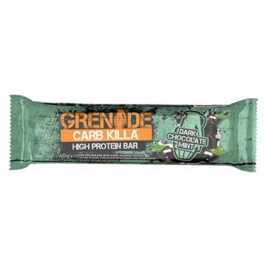 Barre Protéinée Carb Killa goût Chocolat noir à la menthe Grenade 60 g