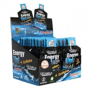 Caja 24 x 40g Energy Up! + Cafeína Gel Victory Endurance Tropical
