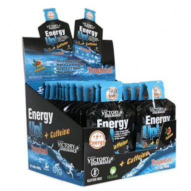 Energy Up! + Caffeine 24 x 40g Gel Victory Endurance Tropical Pack