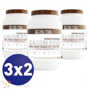Pack 3x2 Casein Pro 100% Pure Casein Diet Matrix Sabor Bombón Rocher 1 kg