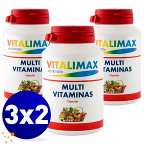 Pack 3 x 2 Multivitamínico Multimineral 100 Tabs Vitalimax Nutrition