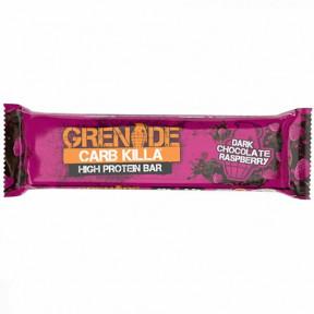 Barra de Proteína Carb Killa sabor Chocolate Preto com Framboesa Grenade 60 g