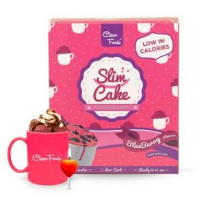 Bolo em Copo Low-Carb Slim Cake sabor Mirtilos Clean Foods 250 g