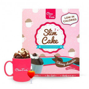 Mug Cake Low-Carb Slim Cake goût Chocolat Clean Foods 250 g