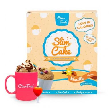 Bolo em Copo Low-Carb Slim Cake sabor Baunilha Clean Foods 250 g