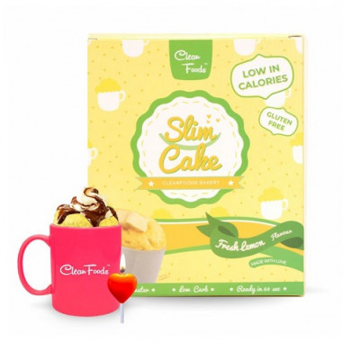 Mug Cake Low-Carb Slim Cake goût Citron Clean Foods 250 g