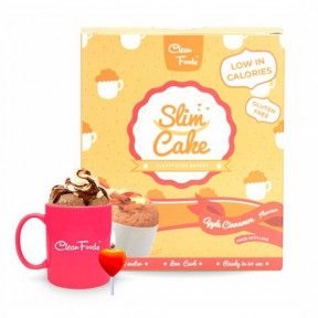 Mug Cake Low-Carb Slim Cake goût Pomme-Cannelle Clean Foods 250 g