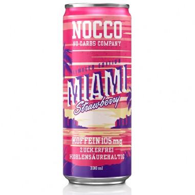 Bebida Low-Carb con BCAA y Cafeína sabor Fresa Nocco 330 ml