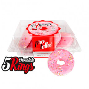Pack 5 Protella Donuts Pink flavor Joe and Gerry's (5 units) 208 g