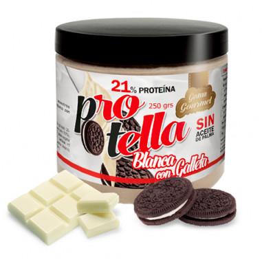 Crema de Chocolate Blanco con Galletas Protella 250 g