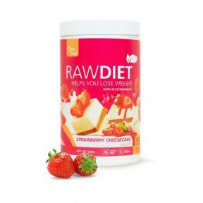 Preparado para Batido Substituto Raw Diet sabor Tarta de Queso com Morangos Clean Foods 600 g