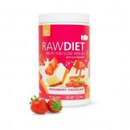 Preparado para Batido Sustitutivo Raw Diet sabor Tarta de Queso con Fresas Clean Foods 600 g