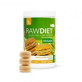 Préparation pour shake de substitution Raw Diet Vegan goût Macarons Vanille Clean Foods 600 g