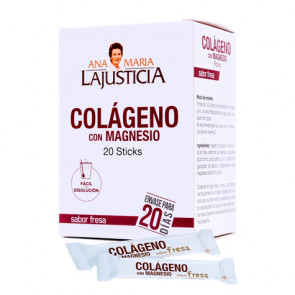 Magnésio Colágeno Com Sabor Morango Ana María Lajusticia 20 Sticks