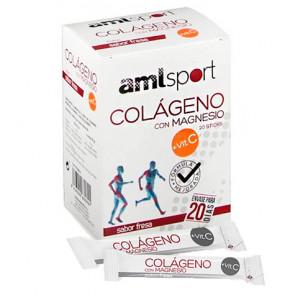Colágeno Con Magnesio + Vitamina C Sabor Fresa AMLSport 20 Sticks