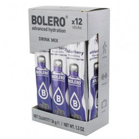 Pack de 12 Bolero Drinks Sticks Bagas de Sabugueiro 36 g