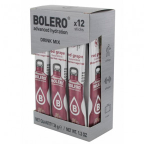 Pack 12 Bolero Drinks Sticks Red Grape 36 g