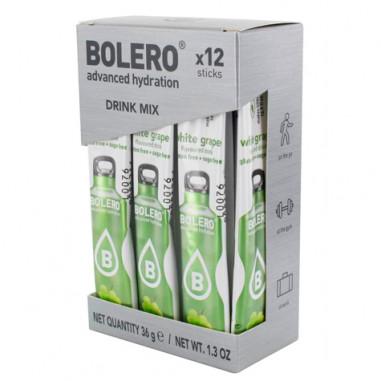 Pack 12 Sticks Bebidas Bolero sabor Uva Blanca 36 g